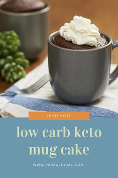 Get delicious and moist chocolate mug cakes online here. We offer simple, sweet, and delicious low carb & sugar free chocolate mug cakes online. Moist Chocolate Mug Cake, Chocolate Mug Cakes, Sugar Free Chocolate, Brownie In A Mug, Brownie Cake, Low Carb Desserts, Cookie Desserts, Ketogenic Diet, Keto Mug Cake