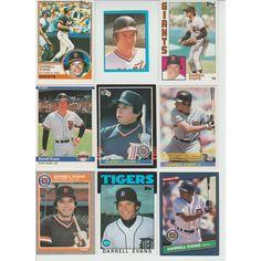 Huge 35 + Different DARRELL EVANS cards lot 1977 -2001 Giants Braves Tigers