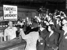 Farewell 18th amendment - the day when the alcohol ban was lifted #history #blackandwhite