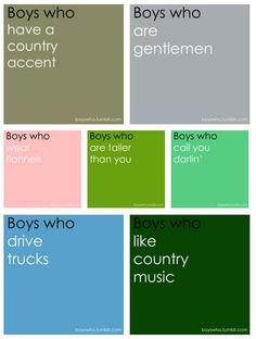 gotta love a good ol' fashioned country boy :)