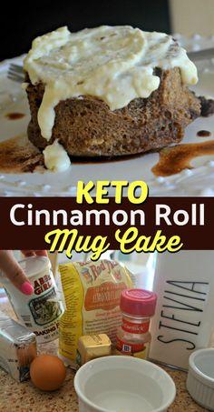 [Food and drink]Keto Snacks sweet mug cakes Low Carb Sweets, Low Carb Desserts, Low Carb Recipes, Stevia Desserts, Cooking Recipes, Cake Mug, Keto Mug Cake, Keto Mug Bread, Keto Chocolate Mug Cake