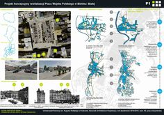 Conceptual Project of Revitalisation The Wojska Polskiego Square in Bielsko- Biala by Kris Szemla