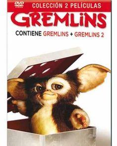 Contiene: Gremlins y Gremlins 2. La nueva generación.  Manténgalo lejos de las luces brillantes. Nunca lo moje. Y lo más importante, por mucho que llore, por mucho que suplique, nunca, nunca debe comer después de medianoche.