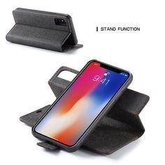 Waterproof Kraft Paper Magnetic Detachable Wallet Case For iPhone Plus Samsung Accessories, Ipad Accessories, Leather Case, Leather Wallet, Iphone 8, Iphone Cases, Apple Watch Accessories, Wearable Device, Kraft Paper