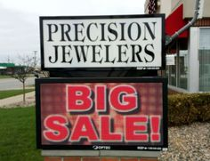 Full Color LED Sign, Precision Jewelers