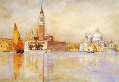"""Henry Roderick Newman """"Eglise de la Salute et San Giorgio Maggiore"""" Venise"""