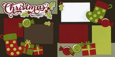 Christmas Scrapbook Page Layout. Love the big Christmas Stockings Christmas Scrapbook Layouts, School Scrapbook, Scrapbook Paper Crafts, Scrapbook Cards, Scrapbooking Ideas, Christmas Layout, Scrapbook Sketches, Scrapbook Page Layouts, Scrapbook Background