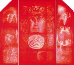 Die Goetheanum Glasfenster - das Rote Fenster im Westen