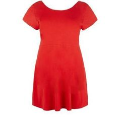 $19, Red Skater Dress: New Look Inspire Red Cap Sleeve Skater Dress. Sold by New Look. Click for more info: http://lookastic.com/women/shop_items/67040/redirect