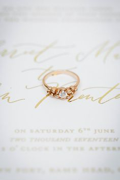 2c7b76b57 Elsie ring - 18ct Yellow Gold claw set diamond ethical engagement ring. On  bespoke caligraphy