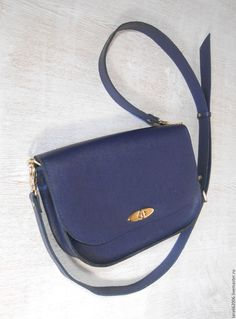 "Buy Womens leather handbag ""STYLISH BLUE"" from saffiano leather ital. - bag leather"