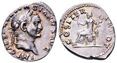 AR Denarius. Roman Imperial, Vespasian, Rome. 69-71 AD. 18mm, 3,56g, 7h. RIC 10. VF. Starting price (2.7.2016): 72 EUR.