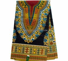 Dashiki fabric Wax print and machine washable. Ideal for men and women's shirt as well as making African clothing like African skirt, African dress, African quilts, men's outfits, for finishing your p
