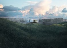 Photo-realistic renderings depict a house at a wild landscape
