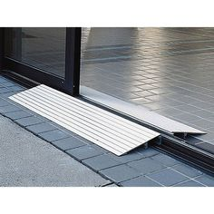 EZ-ACCESS Transitions Modular Entry Ramps are designed for scooters and wheelchairs. The Threshold Ramp is a lightweight yet durable modular ramp designed for doorways, sliding glass doors, and raised floors. BUY ON SALE at Vitality Medical. Handicap Accessible Home, Handicap Ramps, Scooter Ramps, Ramp Design, Wheelchair Accessories, Handicap Accessories, Access Ramp, Handicap Bathroom, Wheelchair Ramp