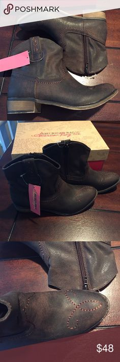 American Rag Brown Cowboy Cowgirl Boots Booties 6 Corrale Boots Brand new with tags Feel free to make an offer :) Dark brown western style ankle boots Really cute with shorts, dress or jeans. American Rag Shoes Ankle Boots & Booties