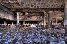 Abandoned Detroit book depository...this is thee saddest thing i've ever seen.  all those old, dead books.....sniff.