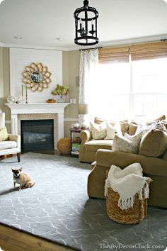 A rug can transform a room #familyroom