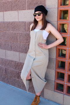 Modern Girl Button Down Tank Dress Contemporary Cool Unique by FoxyRae on Etsy