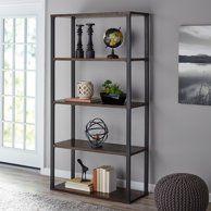 Mainstays 45 Inch Clarendon 3 Shelf Metal Frame Book Case Sawcut