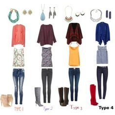 The Four Types In Cardigans and Boots