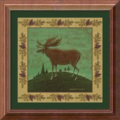 One of a series of four, Kimble's animal portraits have a charming country feel. Get all of them and decorate your walls by hanging your collection in interesting patterns, in a row, diagonally, or ev