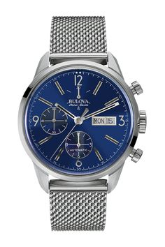 Bulova Accu-Swiss Men's Automatic Mesh Bracelet Watch