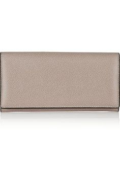 Textured-leather continental wallet #wallet #covetme #valextra Continental Wallet, Texture, Fun, Leather, Bags, Surface Finish, Handbags, Taschen, Purse