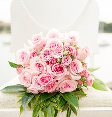 An all #pink #wedding #bouquet // by Rebecca Bloom