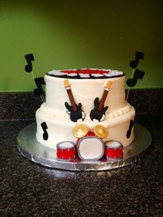 Rock and roll cake -- Cakes by Bri