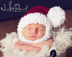 Crochet+PATTERN++Stocking+Santa+Hat+&+Beard+por+PoshPatterns
