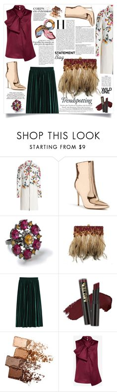 """Statement Feels"" by jalouze ❤ liked on Polyvore featuring 3.1 Phillip Lim, Forever 21, Miss Selfridge, L.A. Girl, Maybelline, Ted Baker and Tory Burch"