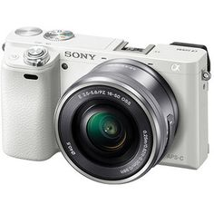Sony Alpha a6000 White Mirrorless Digital Camera with 16-50mm Lens