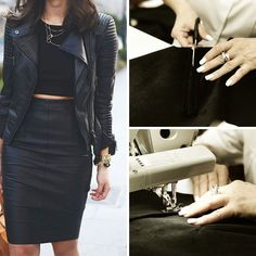 Il chiodo Leather Skirt, Leather Jacket, Pills, Skirts, Jackets, Fashion, Studded Leather Jacket, Down Jackets, Moda