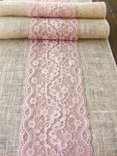 Burlap table  runner wedding table runner with by HotCocoaDesign, $24.00