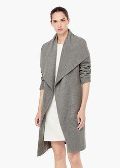 Lapels wool coat - Coats for Women | MANGO