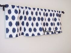 Navy Blue Valance by GallaryVerde Chevron Valance, Valance Curtains, Custom Valances, Etsy Fabric, Window Sizes, Kitchen Valances, Rod Pocket, Bold Colors, Ikat
