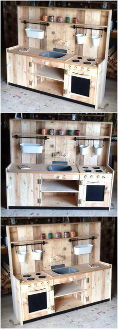 wooden pallets kids mud kitchen #kidsoutdoorplayhouse
