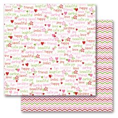 Queen and Company - Kids Collection - 12 x 12 Double Sided Paper - Girl Words at Scrapbook.com $0.89