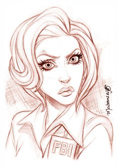Agent Scully - The X Files by andersonmahanski.deviantart.com on @deviantART