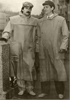"""""""It is easy to find the search, the aspiration for new forms, new image in these men coats made warmer with woolen lining. Underlined geometry of lines, functionality of details is associated with the working uniform, particularly with fishermen's windbreakers."""" (Leningrad Fashion. 1982. №2)"""