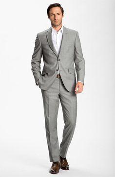 Don Draper w/o a tie! #MadMen: Ted Baker London Wool Suit & BOSS Black Dress Shirt  #Nordstrom