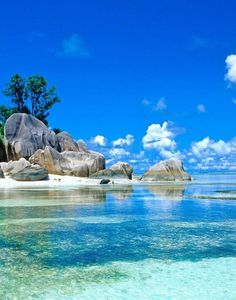 Beautiful beach, Seychelles - Double click on the photo to Design & Sell a #travel guide to #Barbados www.guidora.com