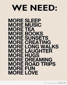 We need more....