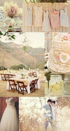 Shabby Chic Rustic Wedding Board
