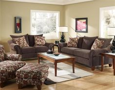 Abbyson Living Ashton Dark Brown Leather Sofa and Loveseat Set by