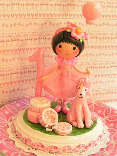 A Sweetie Pie Cake Topper  In Pretty Pink by SweetiePieCaketopper, $130.00