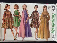 Simplicity pattern 6794. Vintage 1966 misses' by Stitchandzip