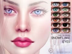 Snowflake Eyes - The Sims 4 Catalog The Sims 4 Skin, The Sims 4 Pc, Sims 4 Tsr, Sims Cc, Los Sims 4 Mods, Bobbi Brown, Sims 4 Cc Folder, Sims 4 Cc Eyes, Sims 4 Gameplay