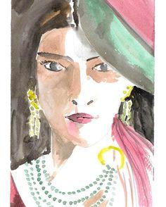 "43 Likes, 8 Comments - Sunil Kalbandi (@sunilkalbandi) on Instagram: ""#portrait #art #sunilkalbandi . . #portraiture #womanswear #jewellery #illustration #widn #face…"""